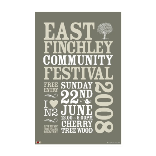 East Finchley Festival Poster 2008 - Poster 8 x 12 (20x30 cm)