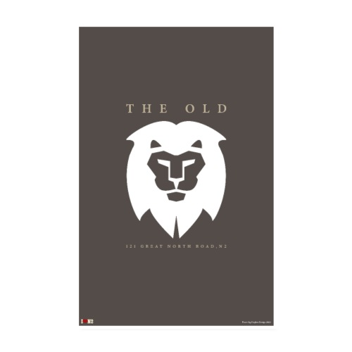 Old White Lion Poster - Poster 8 x 12 (20x30 cm)
