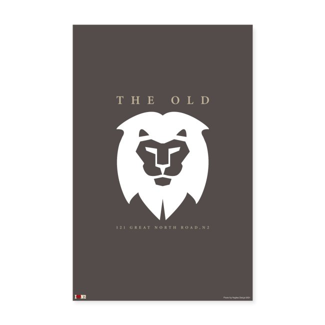 Old White Lion Poster