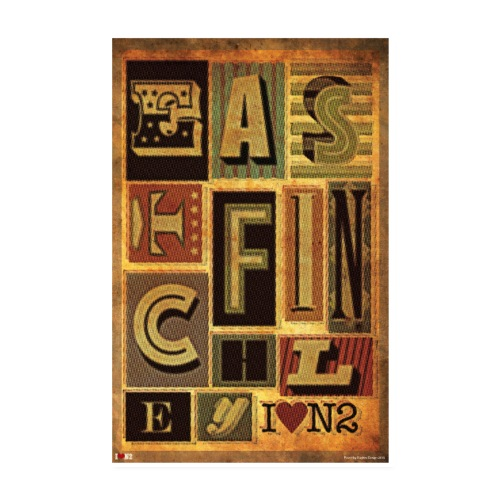 East Finchley Typography Poster - Poster 8 x 12 (20x30 cm)