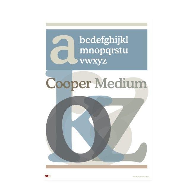 Cooper Medium Type Poster