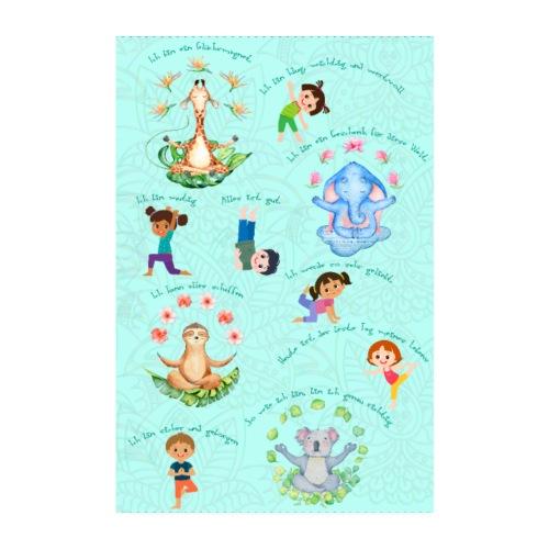 Ich bin ein Glücksmagnet Poster mit Affirmationen - Poster 20x30 cm
