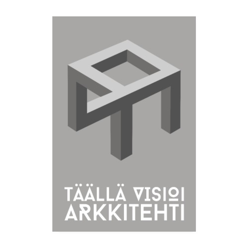 Täällä visioi arkkitehti -juliste - Juliste 20x30 cm