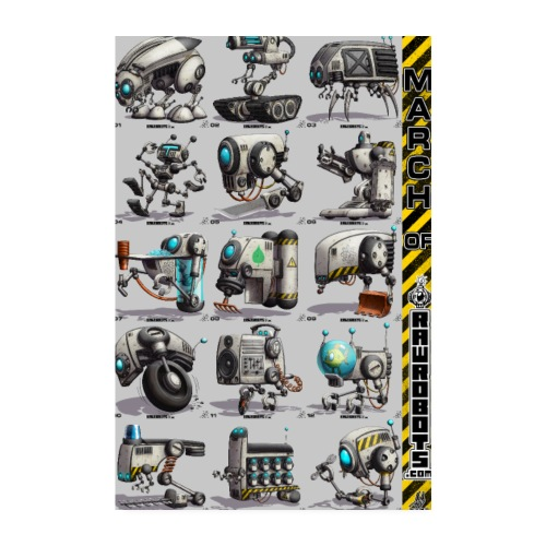 March of Rawrobots 01-15 - Poster 20x30 cm