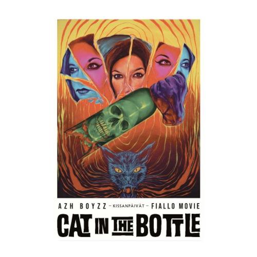 Cat in the Bottle / Kissanpäivät - COLOR (1 print) - Juliste 20x30 cm
