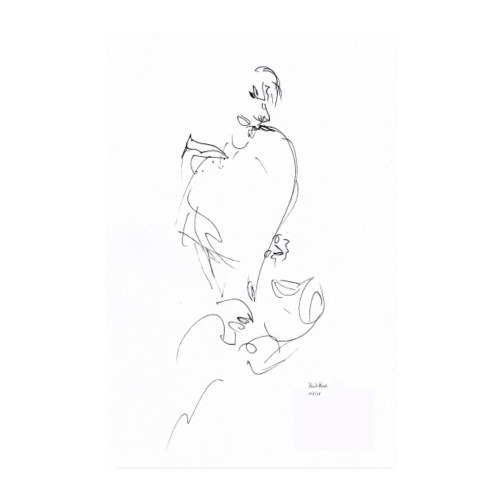 POSTER - SAXOPHONIST - Poster 20x30 cm
