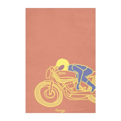 seventies racer jaune - Poster 20 x 30 cm