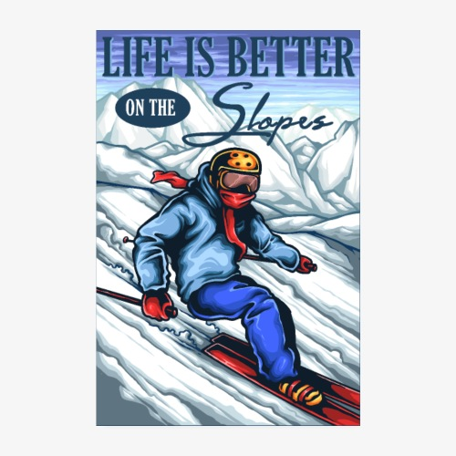 Ski Life - Poster 20 x 30 cm