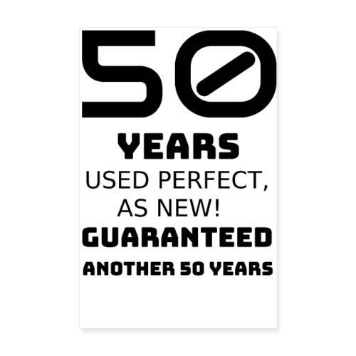 50 years funny happy birthday - Poster 20x30 cm