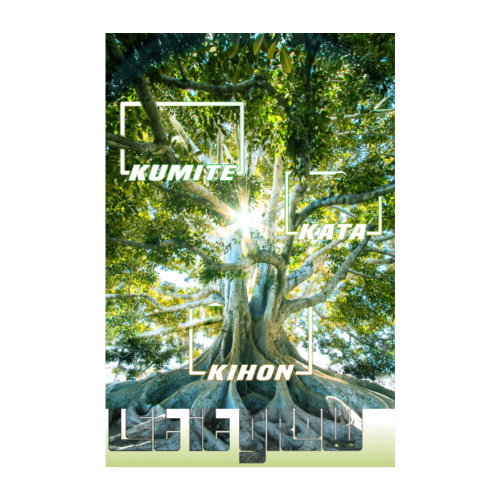 Karate Tree - Let it Grow - Poster 20x30 cm