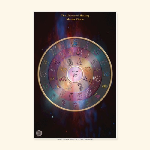 The Universal Healing Master Circle - Poster 20x30 cm