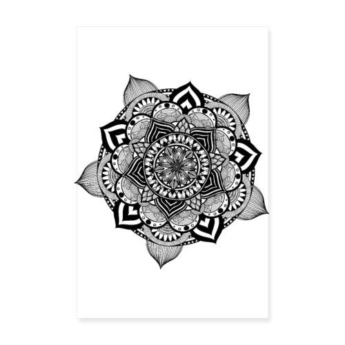 mandala fiore di loto - Poster 20x30 cm