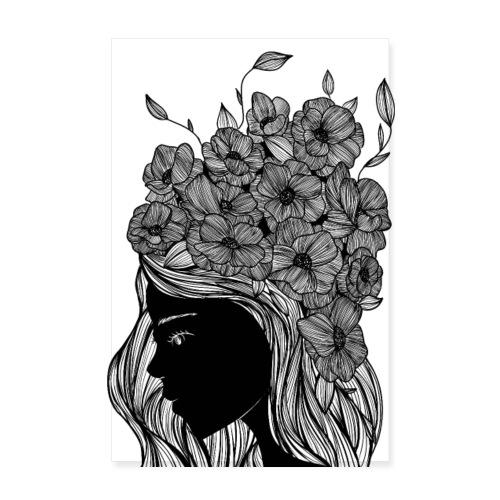 Flower portrait - Poster 20x30 cm