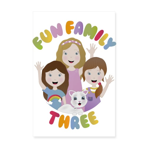 Fun Family Three Logo Poster - Poster 8 x 12 (20x30 cm)