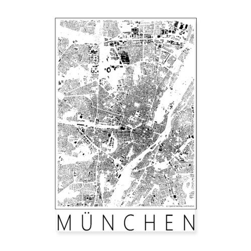 Schwarzplan München Poster Figureground Diagram - Poster 20x30 cm