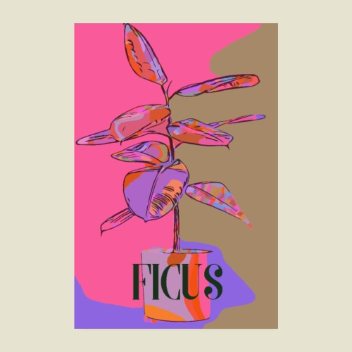 Cool ficus - Poster 20x30 cm