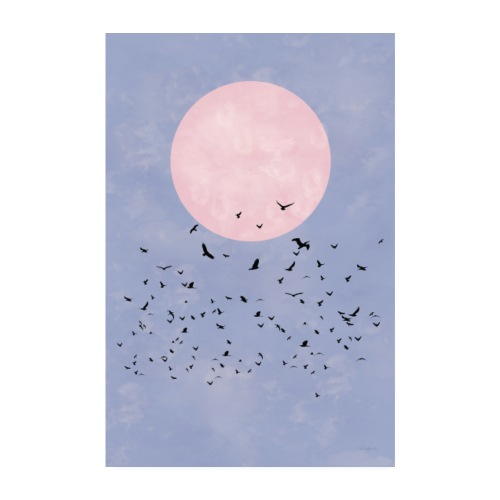 FLY TO THE MOON - Poster 20x30 cm