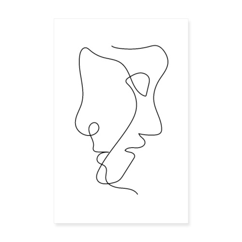 Two Faces T-shirt - Poster 20x30 cm