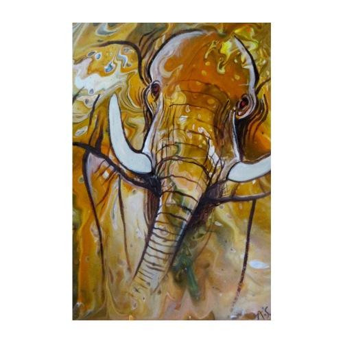 ELEFANT I Savanne - Poster 20x30 cm