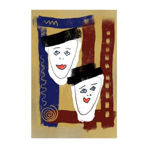 Zwillinge Poster - Poster 20x30 cm