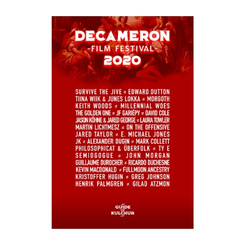 DECAMERON Film Festival 2020 - Poster 8 x 12 (20x30 cm)