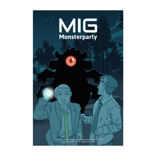 MIG Monsterparty Poster - Poster 20x30 cm