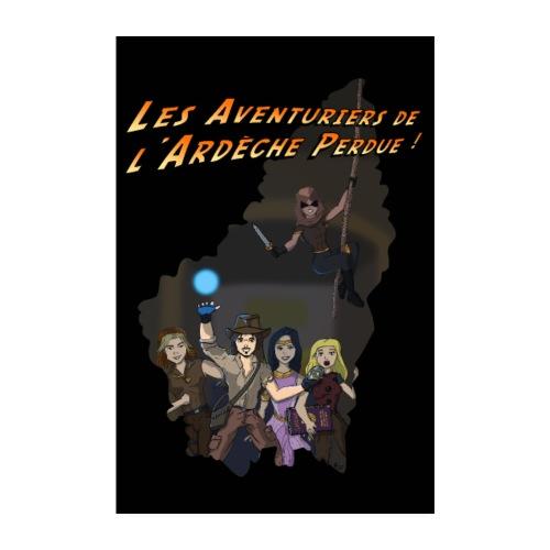 Les Aventuriers de l'Ardèche Perdue - Poster 20 x 30 cm
