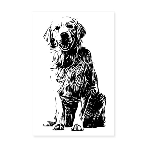 POSTER Golden Retriever Labrador Design Hunde - Poster 20x30 cm