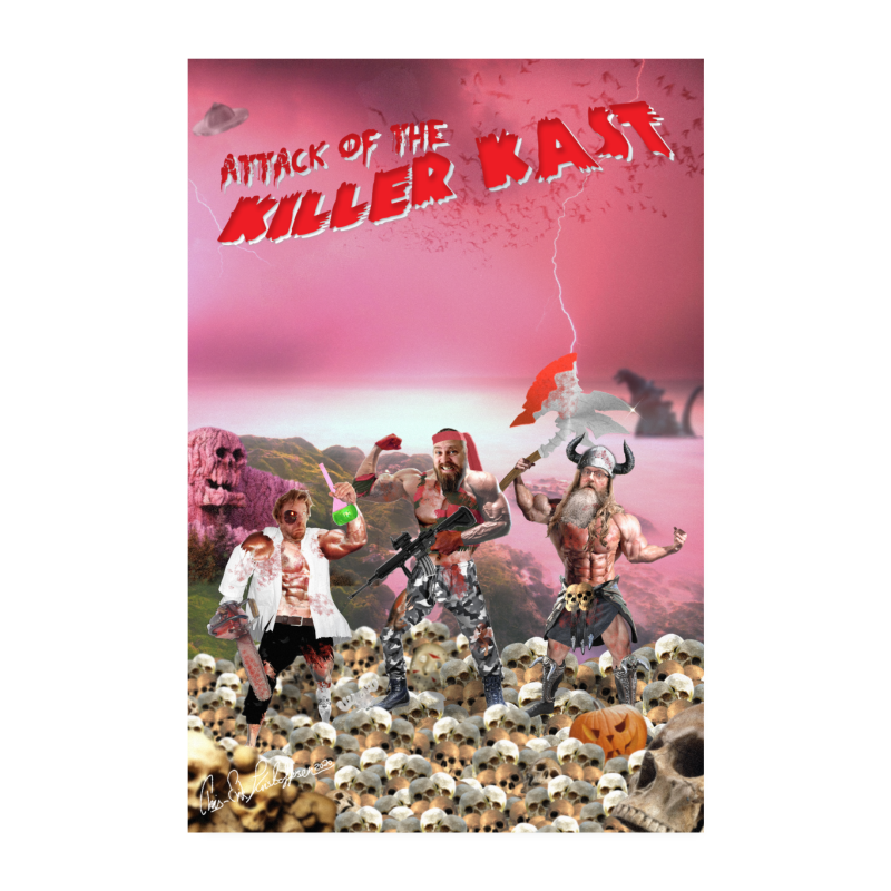 Attack of the Killer Kast poster - Poster 20x30 cm