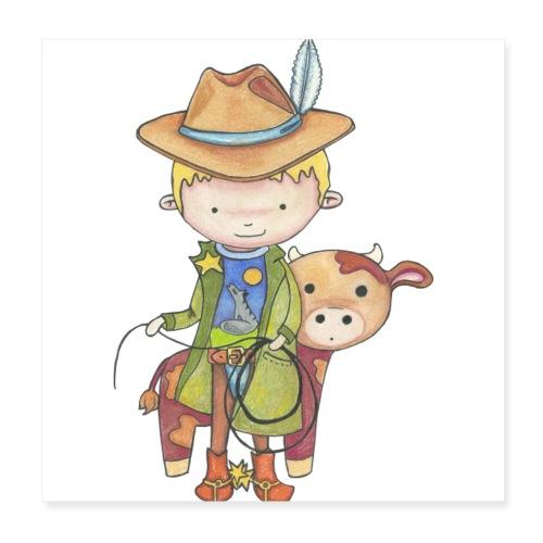 Maxou le cowboy - Poster 20 x 20 cm