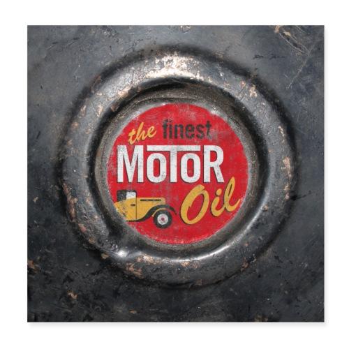 motoroil vintage - Poster 20x20 cm
