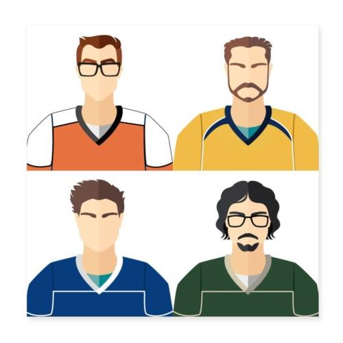 Meet The Team - Poster 8 x 8 (20x20 cm)