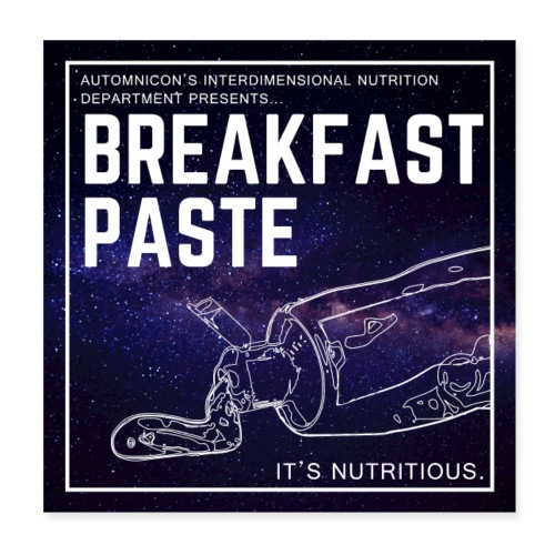Breakfast Paste - Poster 8 x 8 (20x20 cm)