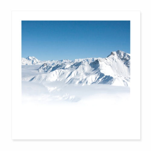 Vallée Alpine - Poster 20 x 20 cm