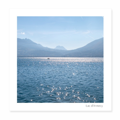 Lac d'Annecy - Poster 20 x 20 cm