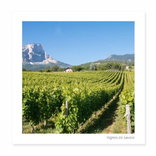 Vignes de Savoie - Poster 20 x 20 cm