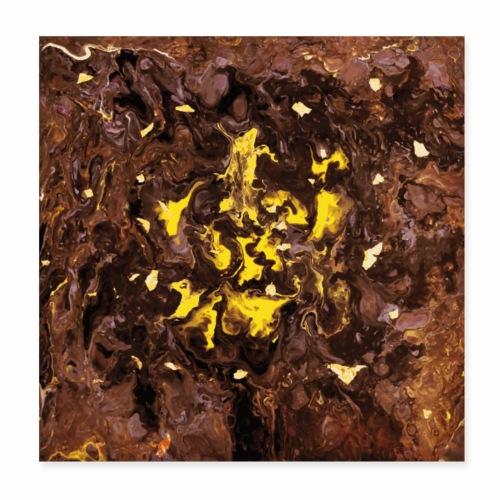 Golden Flakes - Poster 20x20 cm
