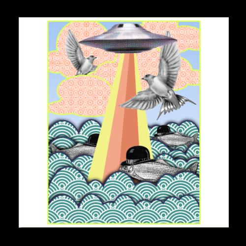 flamingo poster - Poster 20 x 20 cm