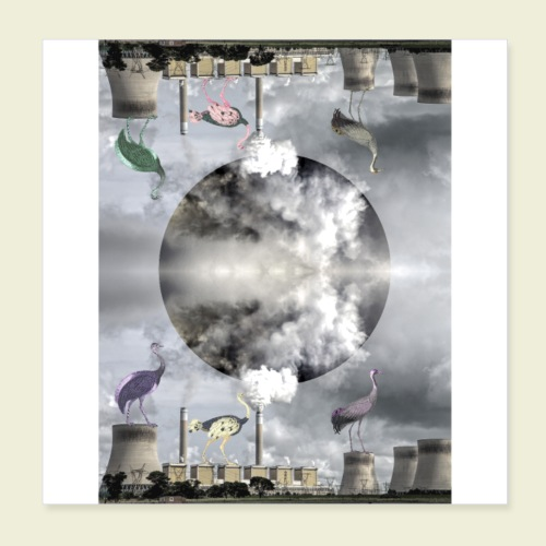 L'usine poster - Poster 20 x 20 cm