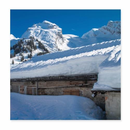 Chalet de montagne dans les Aravis - Poster 20 x 20 cm