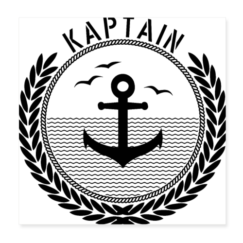 Kaptain - Anchor - Poster 20x20 cm