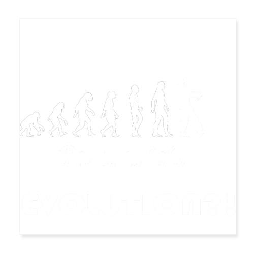 Evolution social media weiß - Poster 20x20 cm