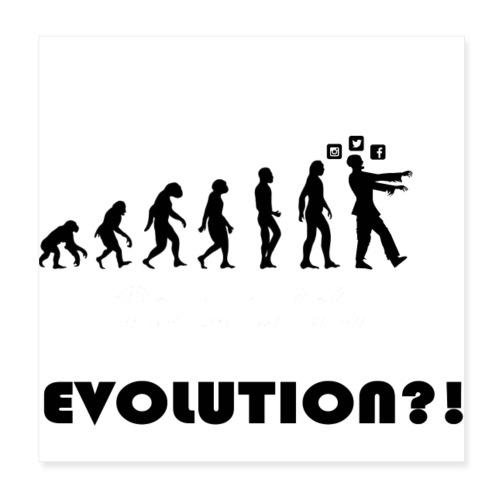 Evolution social media - Poster 20x20 cm