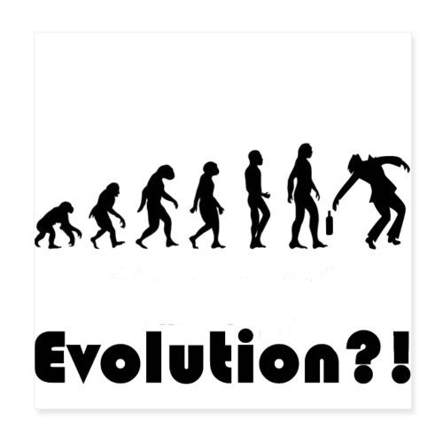 Evolutionstheorie Betrunkener - Poster 20x20 cm