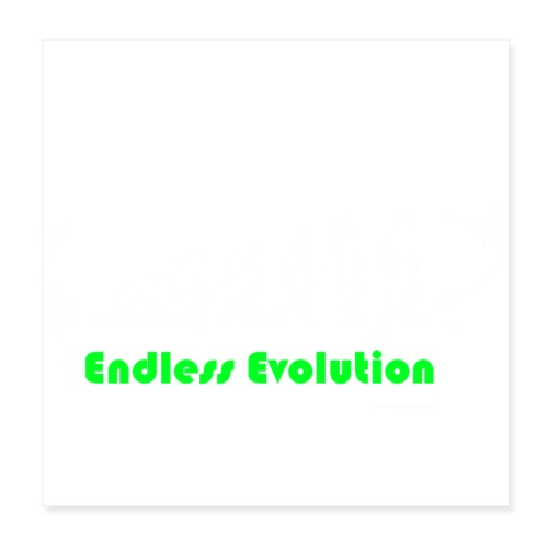 Endless Evolution weiss - Poster 20x20 cm