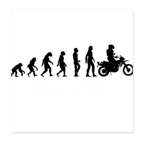 Evolution Motorrad - Poster 20x20 cm