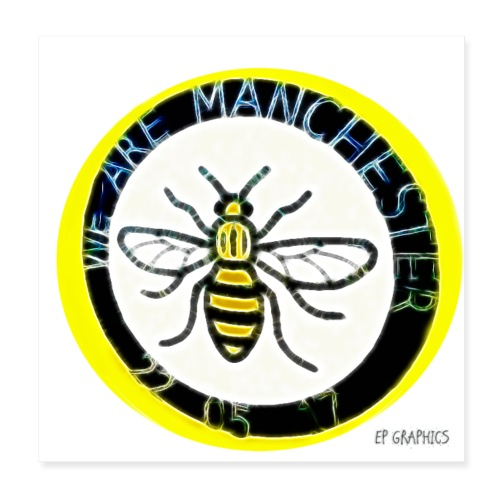Manchester Bee - Poster 8 x 8 (20x20 cm)