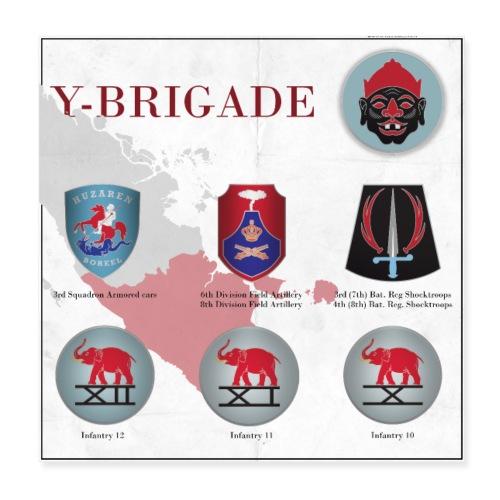 Y-Brigade - Poster 20x20 cm