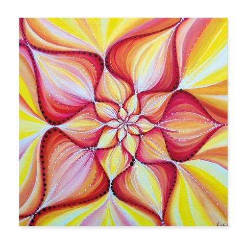 SoulArt Mandala Blume der Freude - Poster 20x20 cm