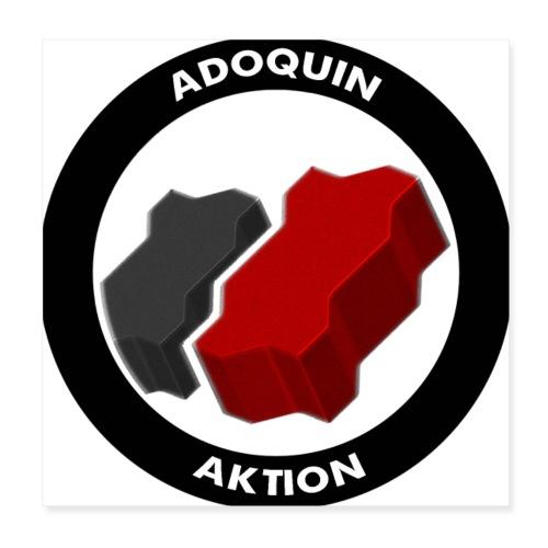 Adoquin Aktion - Póster 20x20 cm
